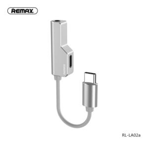 Adapter REMAX za slusalice I punjenje Type C RL-LA02a beli