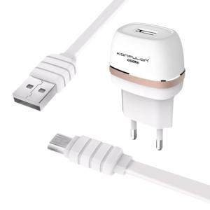 Kucni punjac KONFULON C25+S02 5V 1A sa micro USB kablom beli