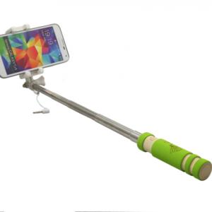 Selfie stick mini ZX-4S kabl 3.5mm zeleni