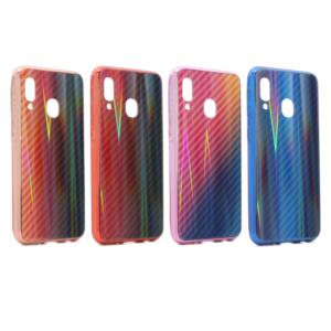 Maska Carbon glass za Samsung A405F Galaxy A40 pink