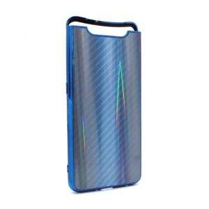 Maska Carbon glass za Samsung A805F Galaxy A80 plava
