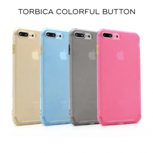 Maska Colorful button za iPhone XR pink
