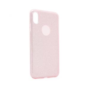 Maska Crystal Dust za iPhone XS Max roze