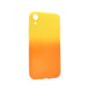 Maska Double summer vibe za iPhone XR narandzasto-zuta