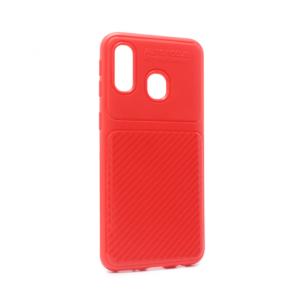 Maska Elegant Carbon za Samsung A405F Galaxy A40 crvena