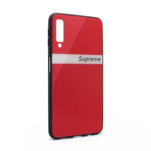 Maska GLASS Supreme za Samsung A750FN Galaxy A7 2018 crvena