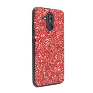 Maska Glitter za Huawei Mate 20 Lite crvena