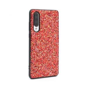 Maska Glitter za Huawei P30 crvena