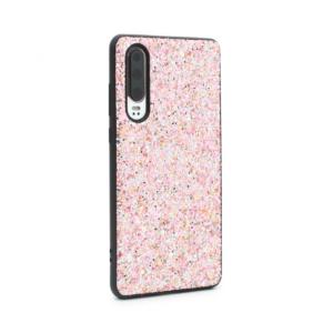 Maska Glitter za Huawei P30 pink