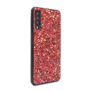 Maska Glitter za Samsung A750FN Galaxy A7 2018 crvena