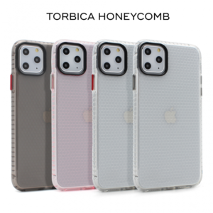 Maska Honeycomb za iPhone X/XS transparent siva