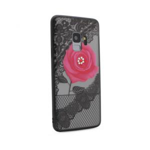 Maska Lace Flower za Samsung G960 S9 roze