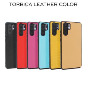 Maska Leather color za Xiaomi Redmi Note 8 crvena