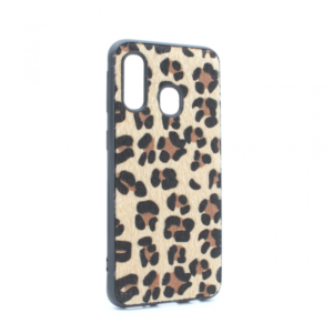 Maska Leopard shell za Samsung A405F Galaxy A40 braon