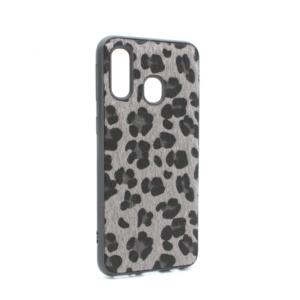 Maska Leopard shell za Samsung A405F Galaxy A40 siva