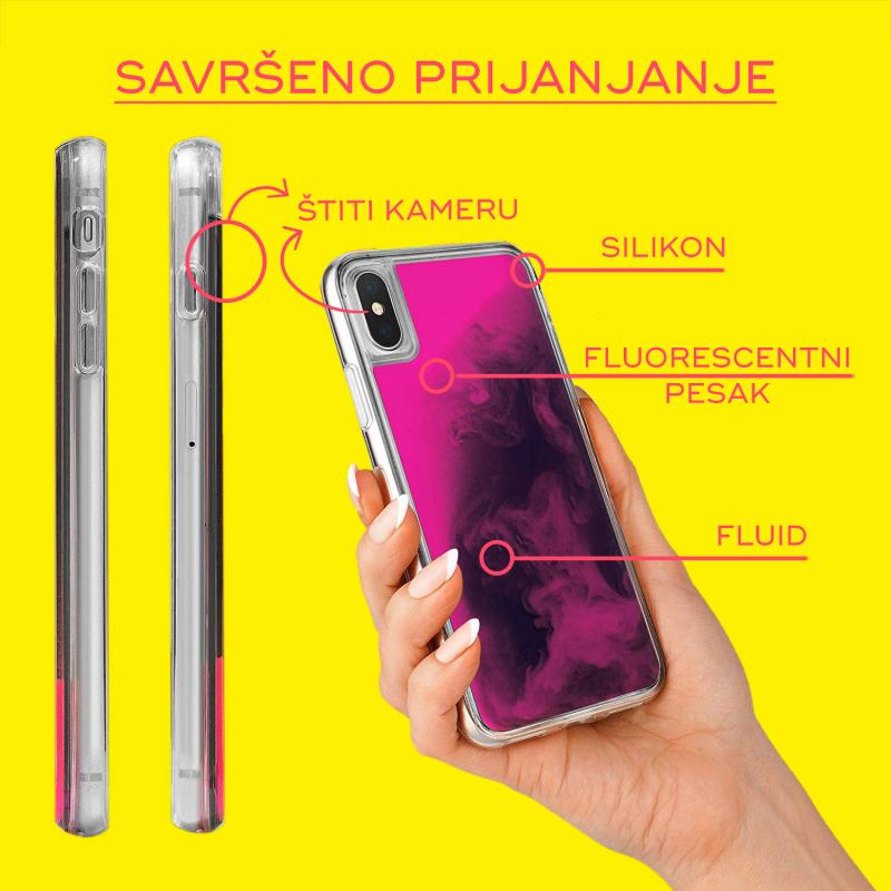 Maska Liquid color za Huawei P30 ljubicasto-pink