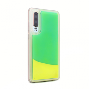 Maska Liquid color za Huawei P30 zeleno-zuta