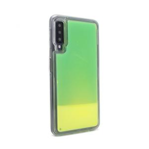 Maska Liquid color za Samsung A750FN Galaxy A7 2018 zeleno-zuta