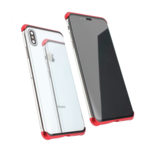 Maska Magnetic Full Glass 360 za iPhone XS Max crvena