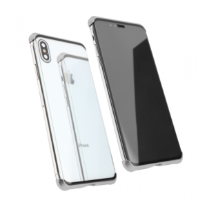 Maska Magnetic Full Glass 360 za iPhone XS Max srebrna