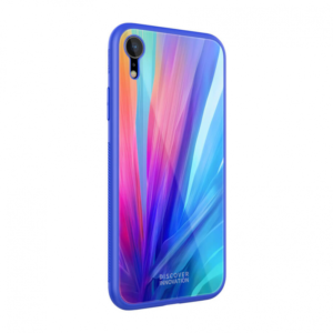 Maska Nillkin Tempered Plaid za iPhone XR plava
