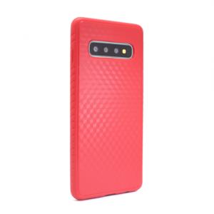 Maska Plaid za Samsung G975 S10 Plus crvena