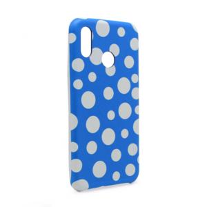 Maska Polka Dot Pattern za Huawei P20 Lite plava