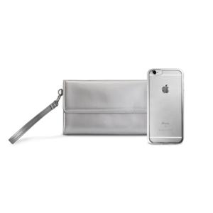 Maska Puro Metal Duo za iPhone 6/6S + satenska Maska srebrna