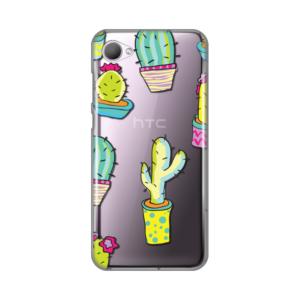 Maska Silikonska print Skin za HTC Desire 12 Neon Cactus
