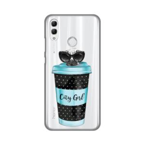 Maska Silikonska Print Skin za Huawei Honor 10 Lite/P Smart 2019 City Coffee