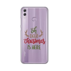 Maska Silikonska Print Skin za Huawei Honor 8X Oh Deer Christmas Is Here