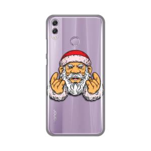 Maska Silikonska Print Skin za Huawei Honor 8X Rock And Roll Santa