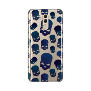 Maska Silikonska Print Skin za Huawei Mate 20 Lite Blue Skulls