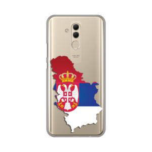 Maska Silikonska Print Skin za Huawei Mate 20 Lite Serbia Map