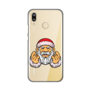 Maska Silikonska Print Skin za Huawei P20 Lite Rock And Roll Santa