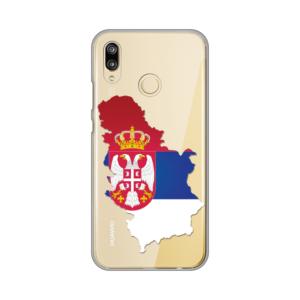 Maska Silikonska print skin za Huawei P20 lite Serbia Map
