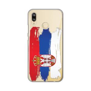 Maska Silikonska print skin za Huawei P20 lite Serbian Splash Flag