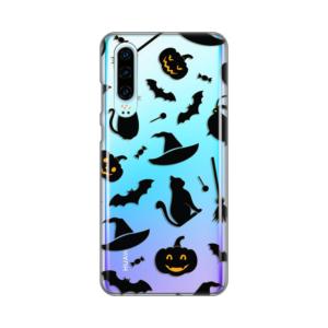 Maska Silikonska Print Skin za Huawei P30 Black Halloween