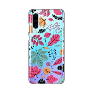 Maska Silikonska Print Skin za Huawei P30 Colorful Leaves