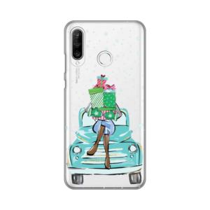 Maska Silikonska Print Skin za Huawei P30 Lite Christmas Ride