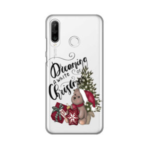 Maska Silikonska Print Skin za Huawei P30 Lite White Christmas