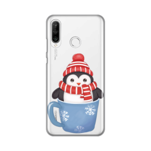 Maska Silikonska Print Skin za Huawei P30 Lite Winter Pingu