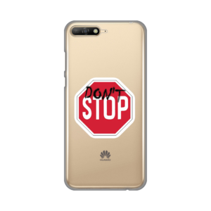 Maska Silikonska Print Skin za Huawei Y6 2018 Dont Stop