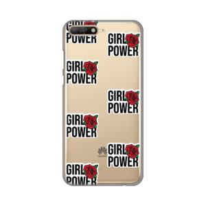 Maska Silikonska Print Skin za Huawei Y6 2018 Girl Power Sticker