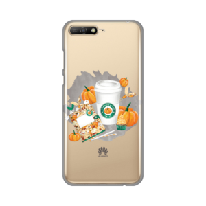 Maska Silikonska Print Skin za Huawei Y6 2018 Pumkin Spice