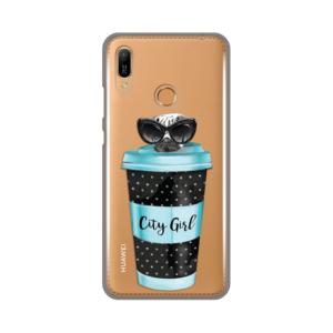 Maska Silikonska Print Skin za Huawei Y6 2019/Honor 8A City Coffee