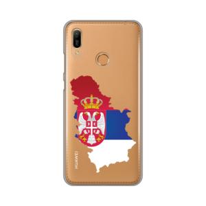 Maska Silikonska Print Skin za Huawei Y6 2019/Honor 8A Serbia Map