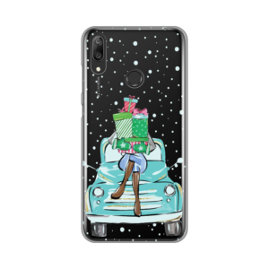 Maska Silikonska Print Skin za Huawei Y7 2019/Y7 Prime 2019 Christmas Ride