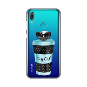 Maska Silikonska Print Skin za Huawei Y7 2019/Y7 Prime 2019 City Coffee