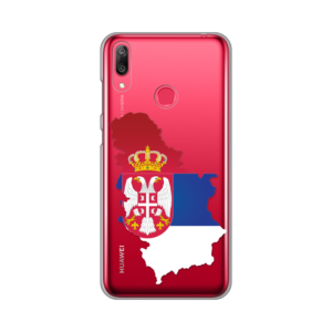Maska Silikonska Print Skin za Huawei Y7 2019/Y7Prime 2019 Serbia Map